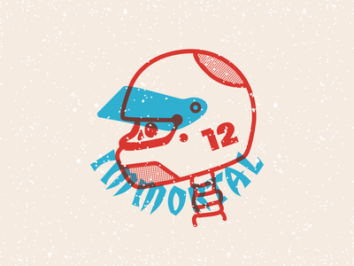 Immortal illustrator sticker graphic design texture vector typography graphism color design illustration