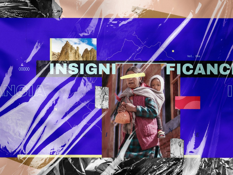 Insignificance zine illustration photography art