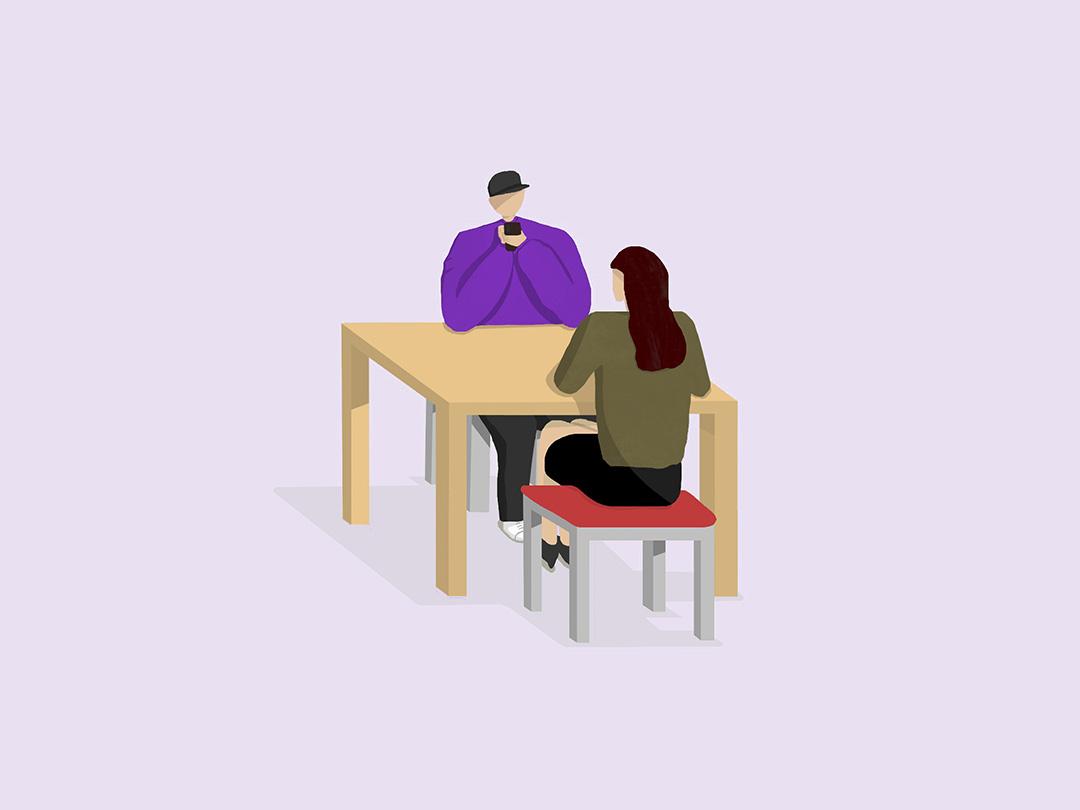 Phone Addict: The Lonely Companion design minimal cleandesign clean singapore procreate app procreate illustration illustrator