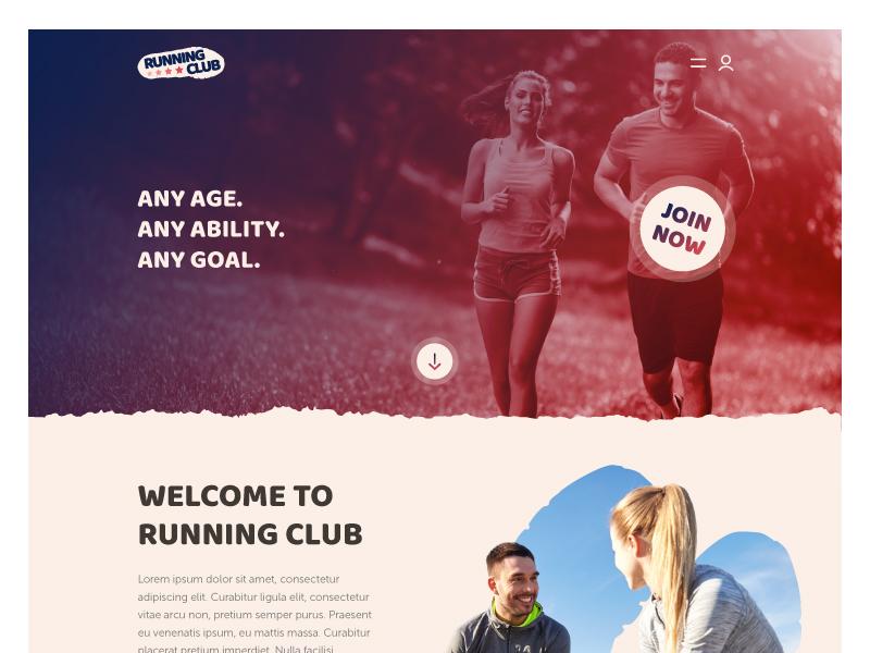Running Club Website web design running club gym fitness website
