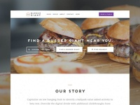 Homepage Design Concept for a Restaurant