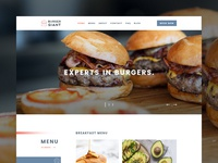 PSD Template for a Burger Restaurant