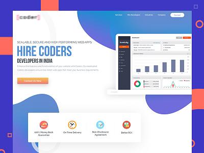 Coders hire creative landing page design code developer