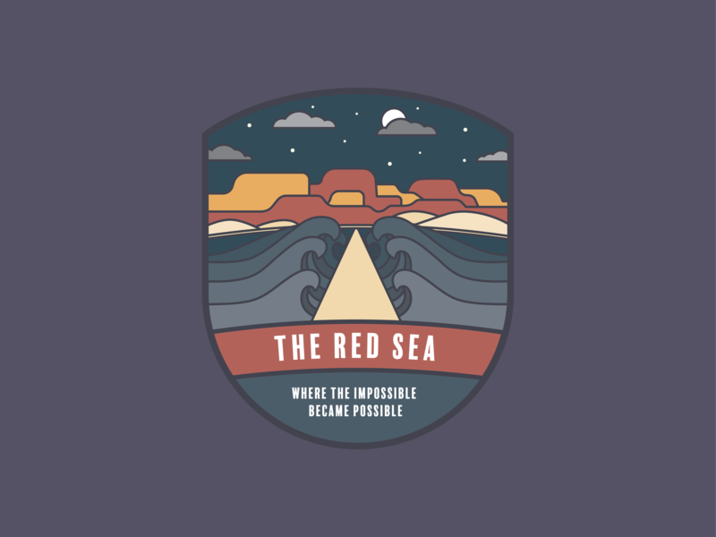 Red Sea Badge bad sea red christian bible badge