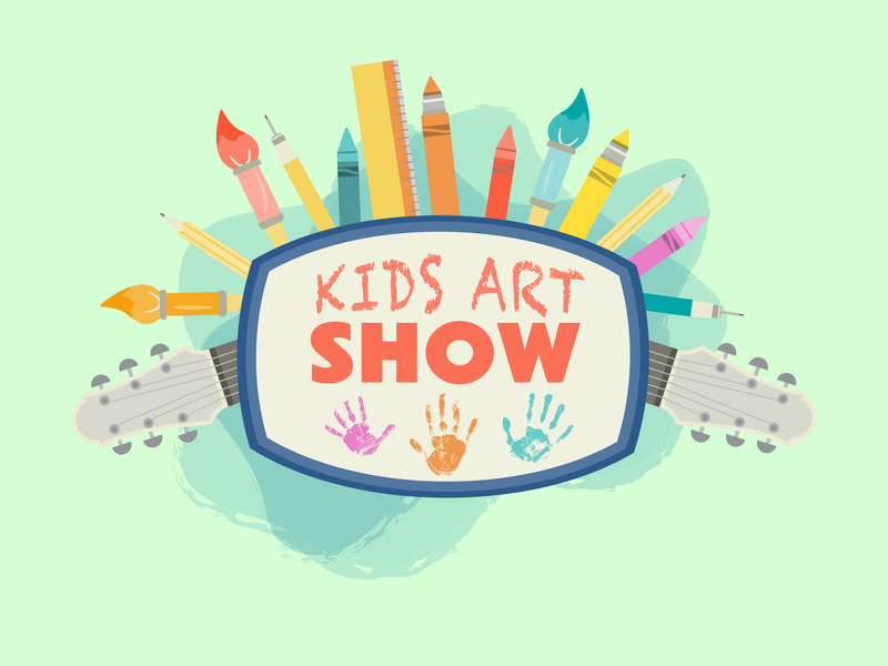 Kid Art Show supplies color logo design logo non profit show fundraiser fundraising art illustration kids kid