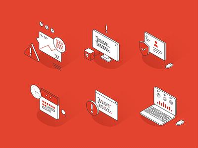 Data icons vector line design ui illustration freebie code isometric cyber hacker danger icons laptop analytics marketplace data