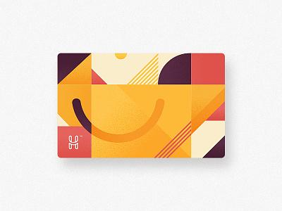 Happspace Card design branding design card colors autumn yellow happspace