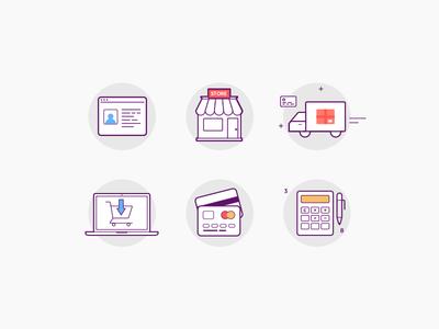 Marketplace icon set