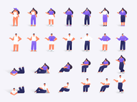 Flat character bundle