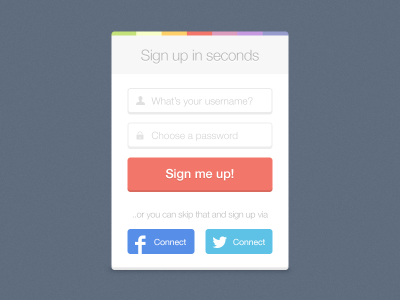 sign up freebie by dylan opet dribbble