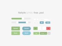 #flatlyfe UI Kit [FREEBIE]