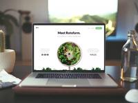 Rotofarm Landing Page (Concept) garden crowdfunding concept landing page user interface ux design ui minimal