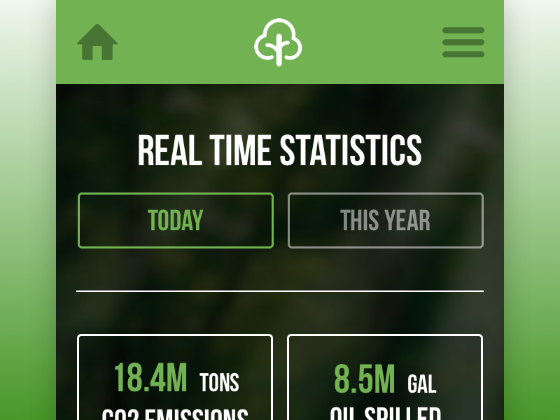 Real Time Statistics of our Earth info flat minimal clean stats real time ecocademy