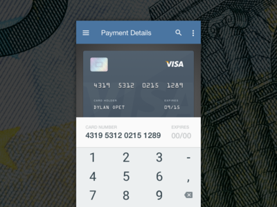 Daily UI #2 / Checkout [FREEBIE] android material design debit credit billing checkout credit card