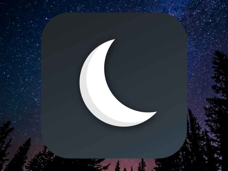 Nightime App Icon [FREEBIE] icon app psd sketch free freebie