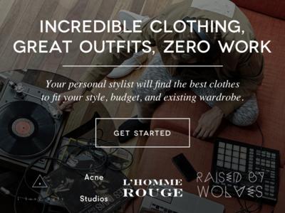 Tally - Shop exuberant landing page brands minimal ecommerce fashion shopping