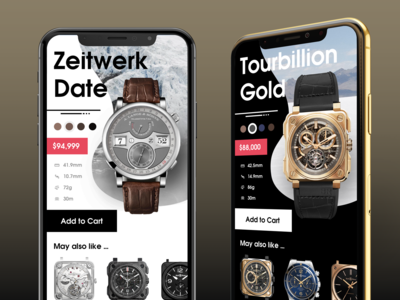 Luxury Watch Application [FREE .sketch file]