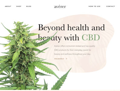 Avérer - CBD Beauty & Health user interface flat creative dispensary weed whitespace clean ux ui isometric classy skin care health