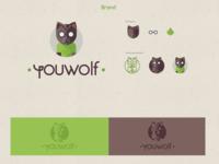 Youwolf Logotype & Symbol