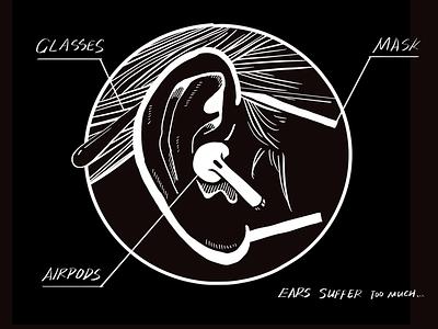 multifunctional ears ipad procreate illustration 2d