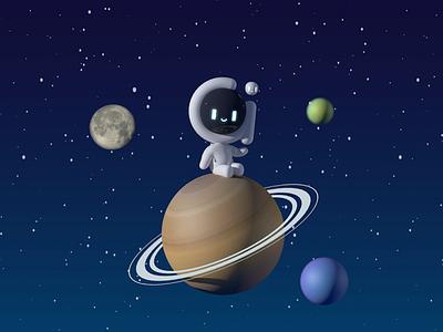 Twinkle twinkle planet c4d illustrations 3d