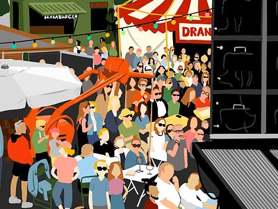 Trek festival 2d illustration procreate ipad