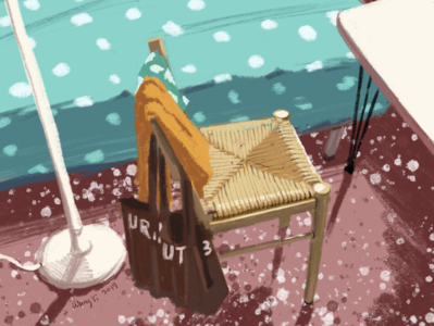 A chair in summer