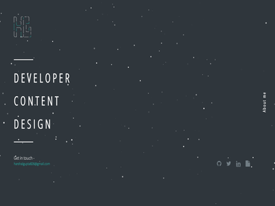 Hello, Dribbble! portfolio homepage personal page debut