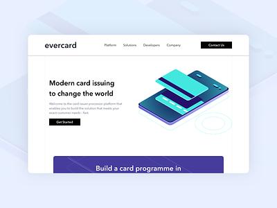 Evercard - Landing Page landing page design homepage design website fintech design