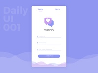 Daily UI 001 - Sign Up Screen