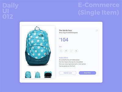 Daily UI Challenge #12 - E-comm Single Item  web design user interface shopping web ecommerce ui design daily ui