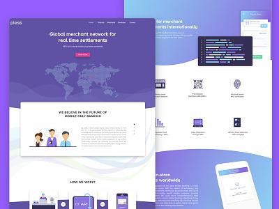 Pless Web Design - Landing Page payment finance fintech web interface landing page web design website