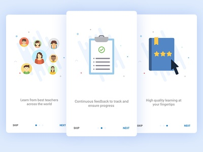 Onboarding Screens for Education App - User 1 mobile interface user interface ux ui groups minimal startup edtech education onboarding