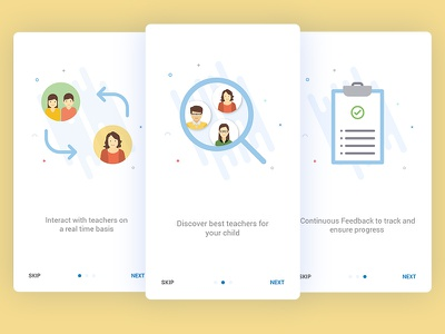 Onboarding Screens for Education App - User 2 interface mobile ui education onboarding
