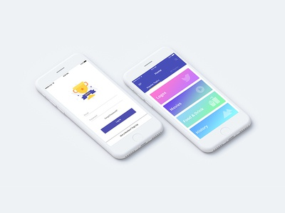 Quiz App  (Old Work) illustrator photoshop psd design app ux ui color game quiz
