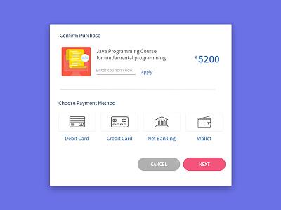 Payment Screen for Edtech Website