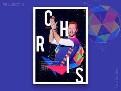 Project X : 10 Music Artists | 10 Songs | 10 Posters artwork design a day illustrator chris martin photoshop coldplay challenge design posters music