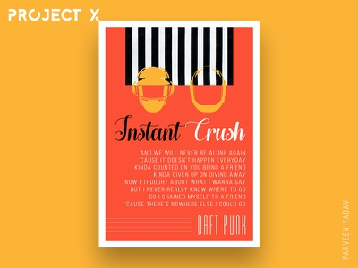 Project X : 10 Music Artists | 10 Songs | 10 Posters artwork design a day illustrator daft punk photoshop instant crush challenge design posters music