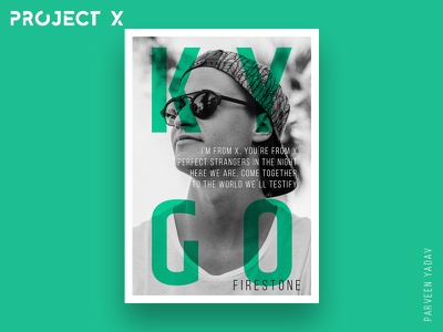 Project X : 10 Music Artists | 10 Songs | 10 Posters posters photoshop music firestone illustrator day a design punk daft challenge artwork