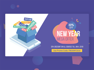 Creative For  New Year Marketing mobile learning collaterals marketing new year banner education edtech