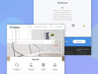 Home Services Landing Page:Unused Design sketch design uiux webdesign website home services ui landing page