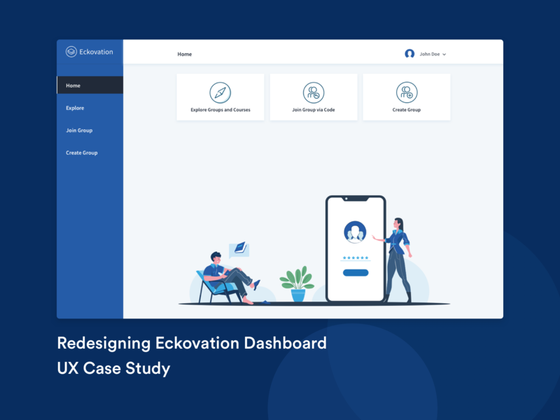 Eckovation Dashboard dashboard ui edtech redesign ux dashboard