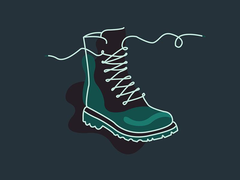 Doc Martens dark design drawing shoes illustration shoe