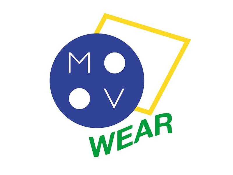MOOV wear logo green yellow blue 80s logo brazil
