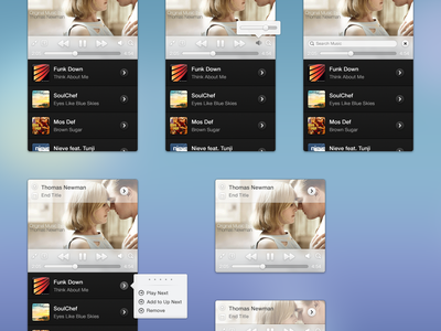 iTunes Mini itunes mini player music osx desktop app ui light dark