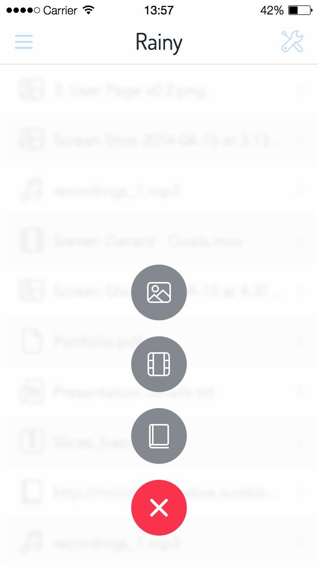 4. upload menu