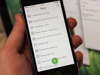 All Uploads uploads cloudapp iphone ios7 ui user interface visual design rainy