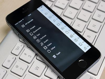Filter Menu menu slide filter rainy ios app ui user interface visual design cloud