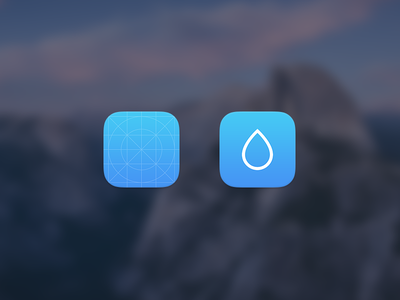 Rainy Icon rainy icon app app icon visual design drop ios user interface ui
