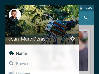 Shneebs Android Concept shneebs android concept ui user interface drawer navigation